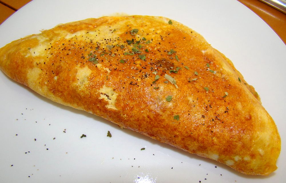 Quick and simple omelet for one