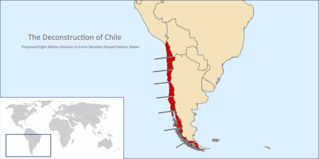 Political map of Chile after Chilexit